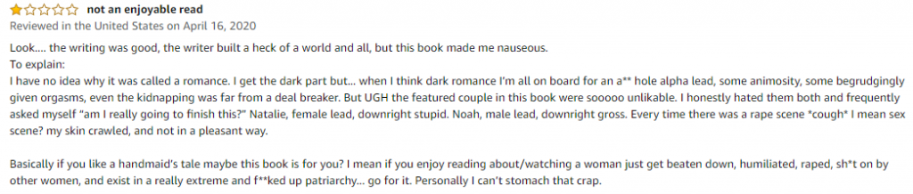 1 star book review